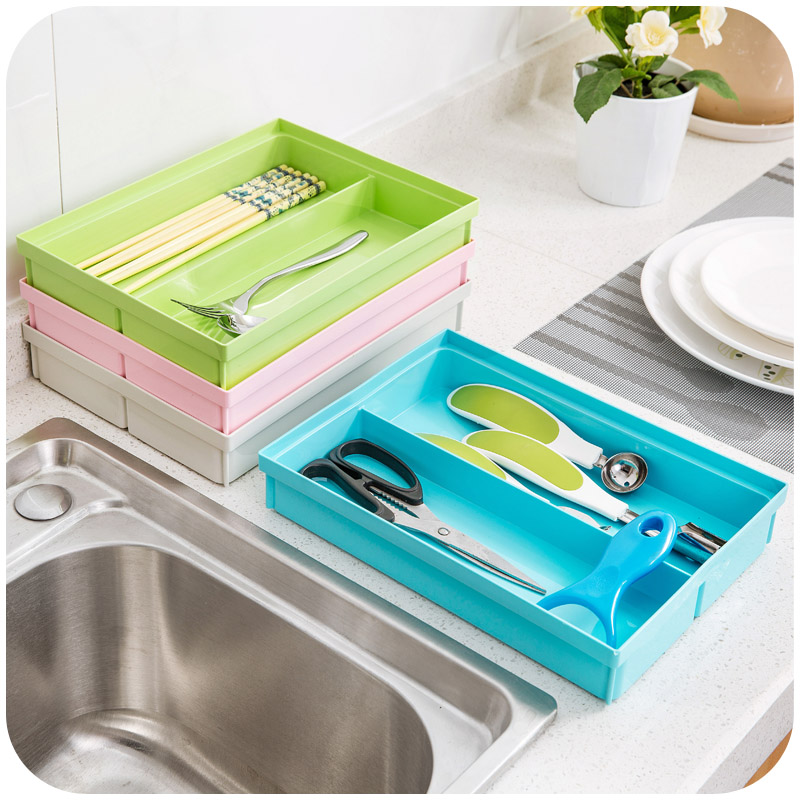 Stackable storage box double chopsticks tableware spoon, can be deducted from the fixed combination storage box