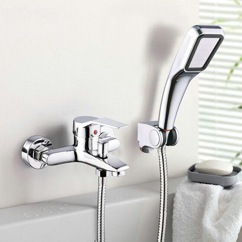 bagno doccia rubinetto vasca da bagno rubinetto miscelatore con doccetta testa rubinetto doccia set a parete