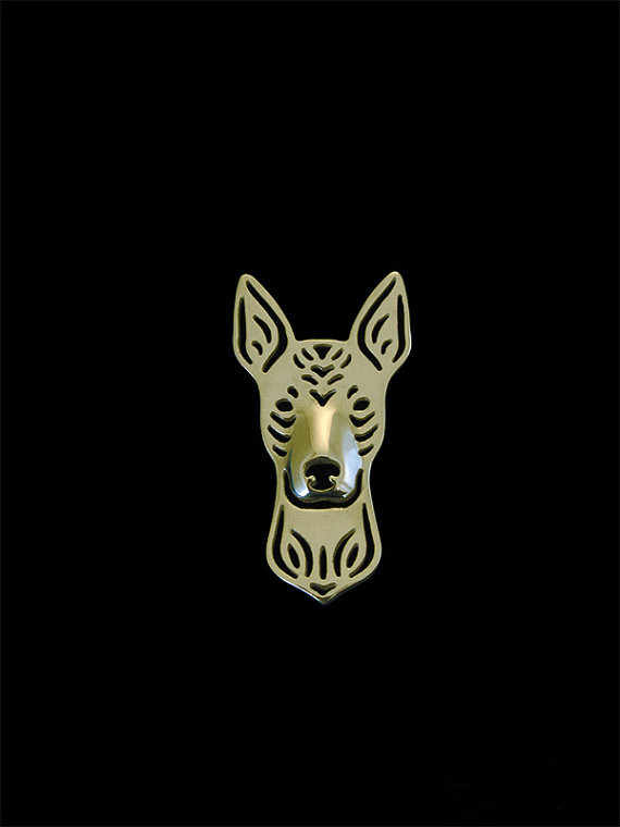 Trendy Xoloitzcuintle Brooches and Pins Gold Color Silver Color Men Brooches Fashion Jewelry Hand of King