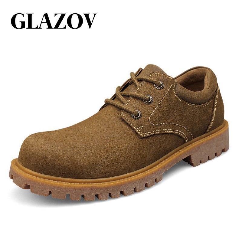 36 Travail Occasionnels Confortable 48 Cuir khaki Gold De Oxfords Chaussures ~ Yellow En Véritable Mode Qualité Taille Appartements Hommes Grande 6xqwx