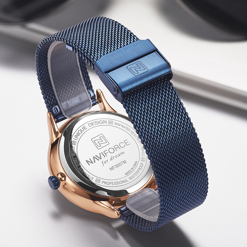 Image 4 - NAVIFORCE New Men Watch Mens Watches Top Brand Luxury Quartz Clock Male Sport Steel Mesh belt Wrist Watch relogio masculino 2019-in Quartz Watches from Watches