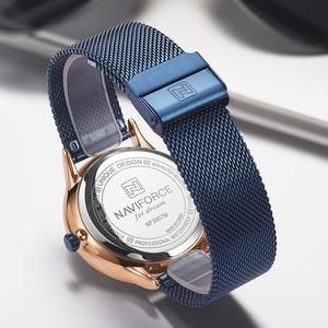 Image 4 - NAVIFORCE męskie zegarki Top marka luksusowa moda męska zegarek kwarcowy siatka stalowa pasek zegarek sportowy mężczyzna Relogio Masculino 2019