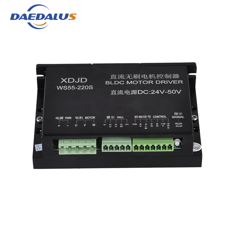 CNC Stepper Motor Driver Controller 3 Phase DC 24-50V Brushless DC Motor Driver For 600W Router Spindle Milling Tools bldc stepper motor driver controller servo motor driver dc 24 50v brushless dc motor driver for 600w router spindle milling tool