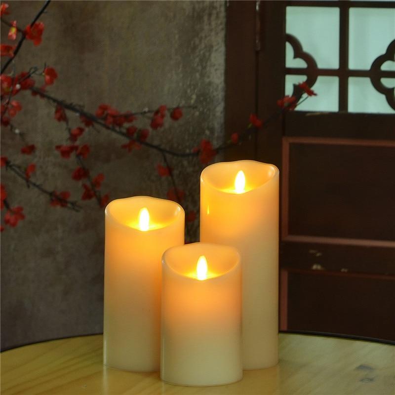 Luminara Flameless LED Candle 3PCS Battery Operated ...