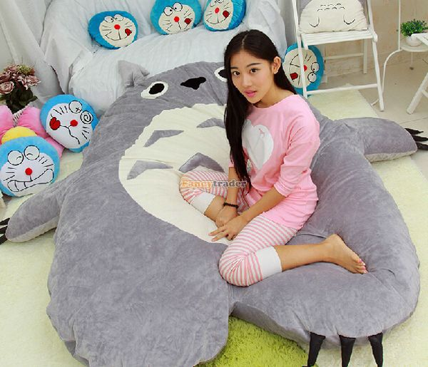 Huge Plush Totoro Bed Tatami Cushion Giant Stuffed Animal Sofa Mattress Cute Comfortable Sleeping Pad