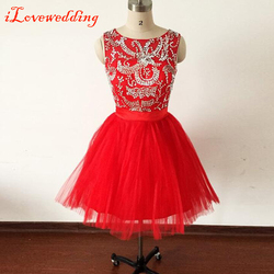 2015 hot sale short homecoming dresses red for girls tulle with beads open back with bow.jpg 250x250