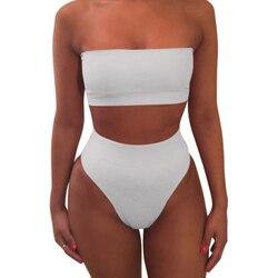 1 комплект женский купальник сплошной цвет бикини модный дышащий для пляжного праздника YA88 1