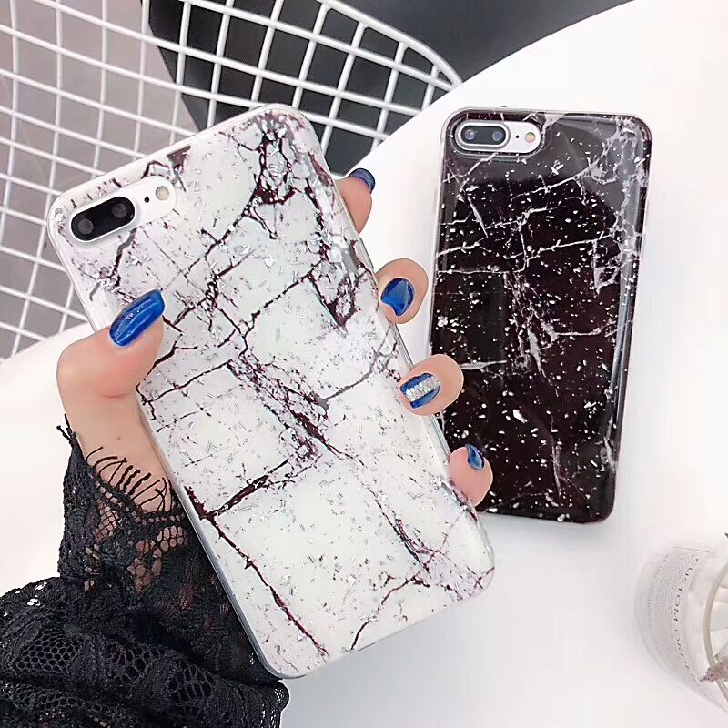 Luxury Black White Marble Case for <font><b>iPhone</b></font> X XS Max XR <font><b>Hoesje</b></font> Soft Silicona Capa Fundas for <font><b>iPhone</b></font> 6 6S 7 <font><b>8</b></font> Plus Cover Coque image
