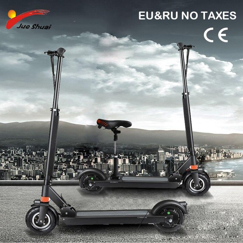 JS 8 pouce Électrique scooter avec siège Deux Roues kick scooter Adulte Scooter Électrique planche à roulettes hover bord électrique Unisexe
