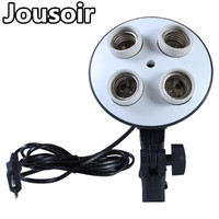 Photographic Equipment Photography Lighting 1pc*4 Socket lamp holder NO00DC