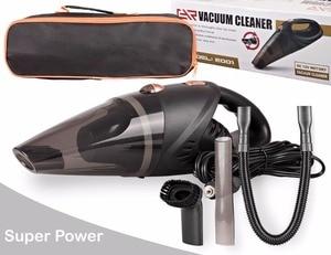 Image 3 - Kit de aspiradora de mano para coche, alta potencia, 5000pa, 12v, en húmedo y seco, succión potente, alfombra automotriz de 120w