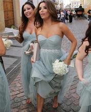 2016 Sweet Sashes Cheap Long Bridesmaid Dresses Sweetheart Tulle A Line Floor-Length Robe Demoiselle D'honneur Bridesmaid Dress