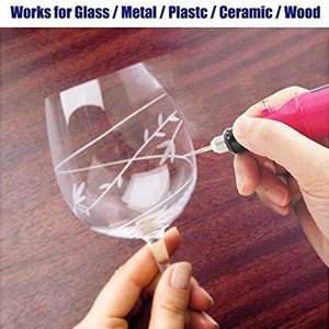 Image 3 - 電気ミニ彫刻ペンミニdiy彫刻ツールメタルガラスセラミックプラスチック木製ジュエリースクライバーとエッチング装置30ビット