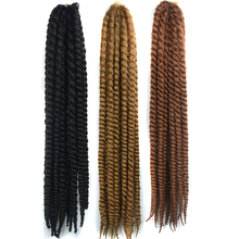 Your Style 24'' 12 Strands Havana Mambo Twist Crochet Braids Hair Extensions 120g Synthetic Afro Brading Hair Black Brown Purple(China)