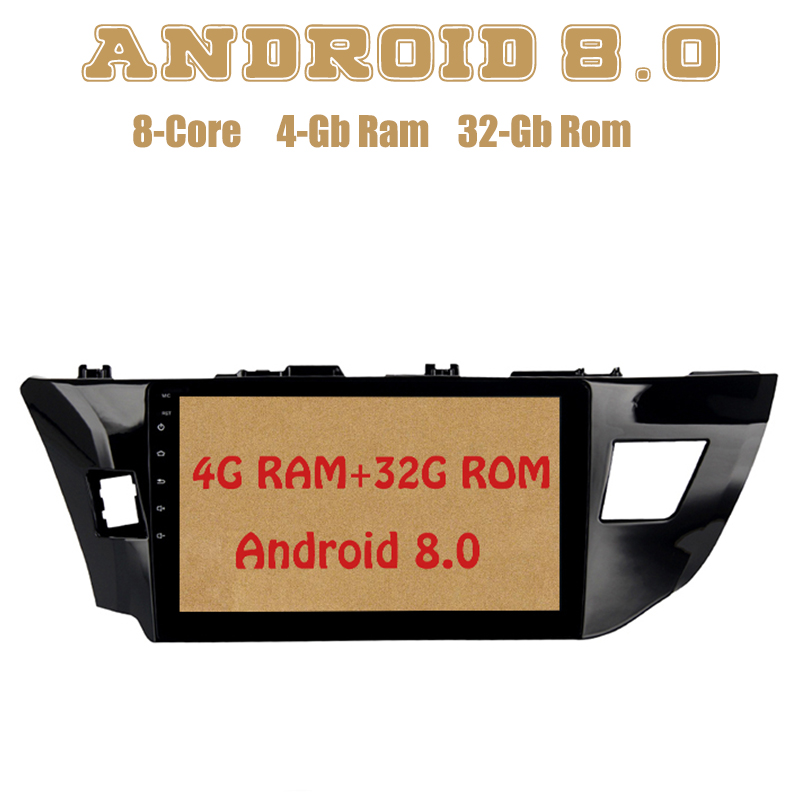 10.2 Android 8.0 Octa Core Car radio gps for toyota corolla 2014 2015 2016 with 4G RAM mirror link 4G wifi usb Stereo