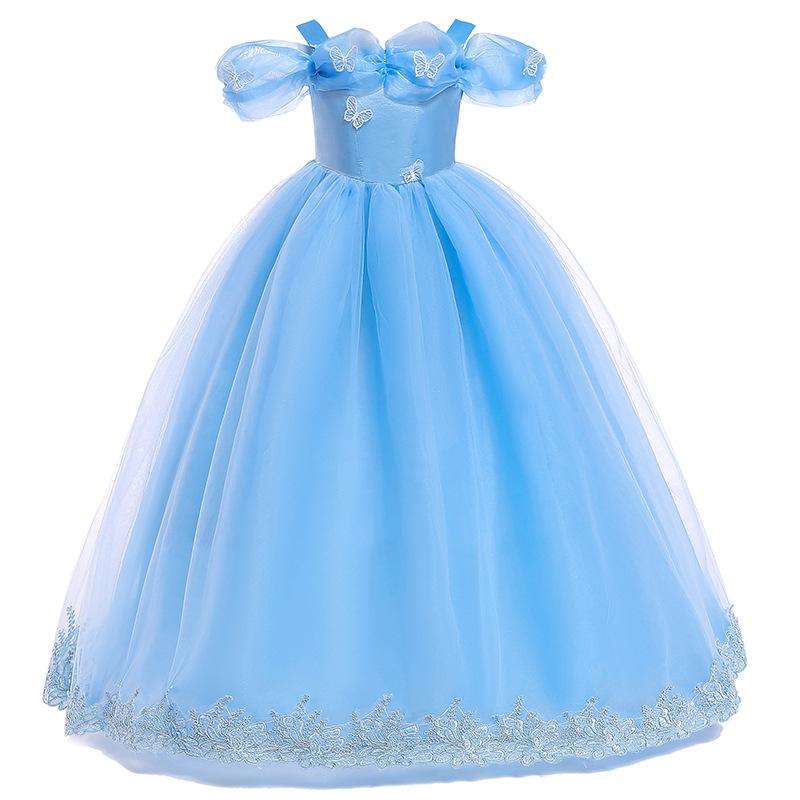 c1c6128e7ec Dress girl Cinderella Children Princess Sofia Dress For Party Wedding Mesh  Kids Costume girls dresses for