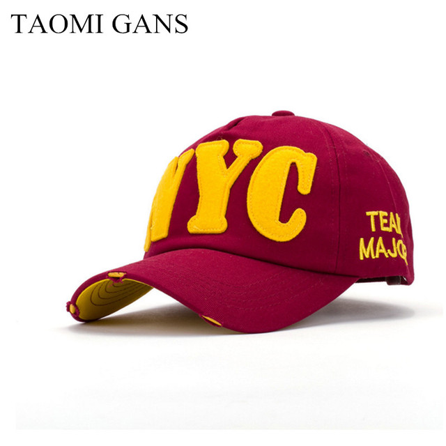 Taomi Gans Snapback Embroidery Nyc Letter High Quality 2017 New
