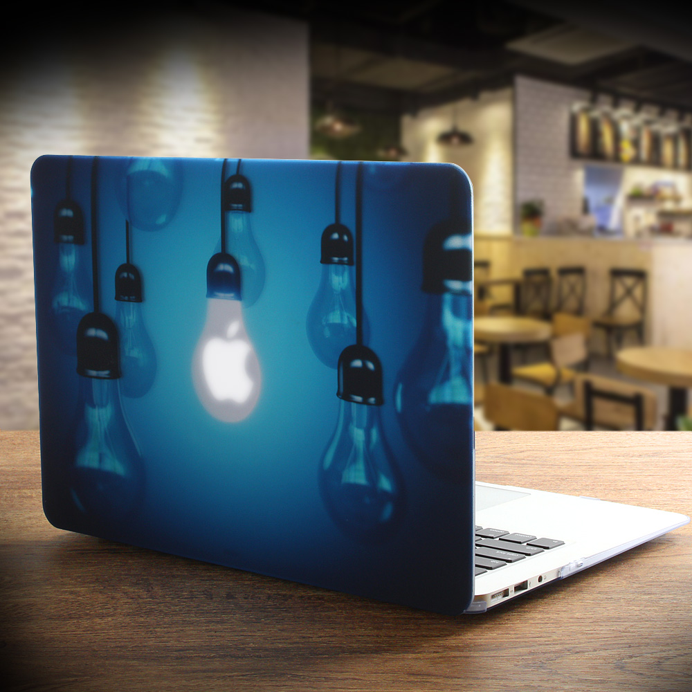 New Print Unique Light Bulb Laptop Case For MacBook Air Pro Retina 11 12 13 15 Inch With Touch Bar + Keyboard Cover