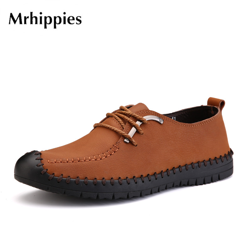 mrhippies 2017 Flats New Arrival Authentic Brand Casual Men Genuine Leather Loafers Shoes size 38-44 Handmade Moccasins Shoes станок д бритья gillette mach3 1 кассета