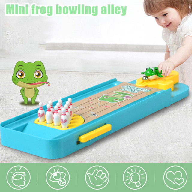 Мини 3D лягушка Боулинг настольные игры Launcher игрушка для Для детей родитель-ребенок взаимодействия NSV775