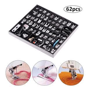 Image 4 - Набор прижимных прижимов для швейных машин, 62 шт., линейка под давлением для шитья, многофункциональные швейные аксессуары, прочный Набор для вязания
