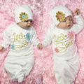Девочка Одежда Для Новорожденных девушка Взять Домой наряд Девочка Набор Ребенок Платье Ребенка Спальные Мешки Ночной Рубашке