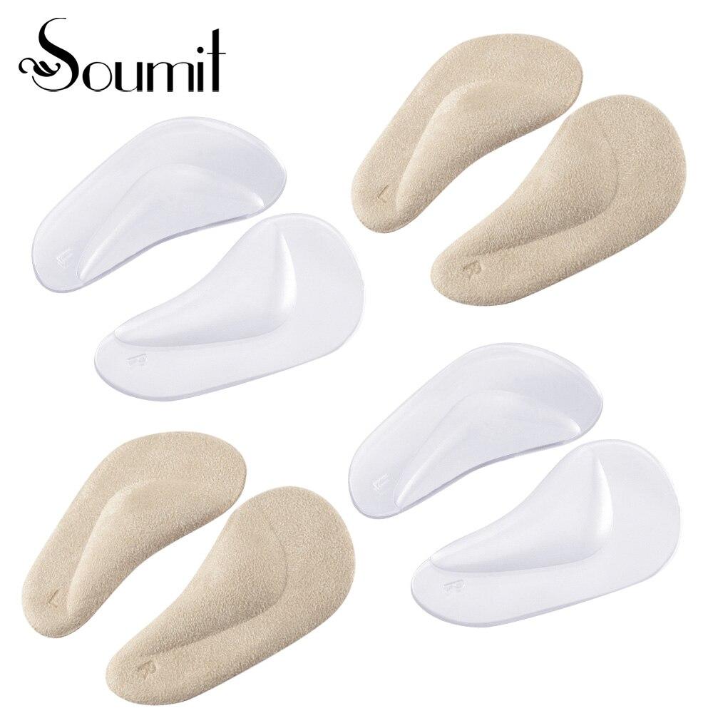 Soumit 4 paires GEL Pied Support de Correction Semelles antichoc absorbant la sueur Semelle Adapté pour Femmes ou Enfants