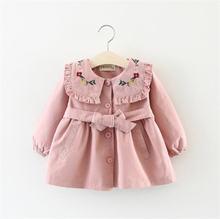 Тренч для девочек весенняя куртка детская одежда блейзер модная