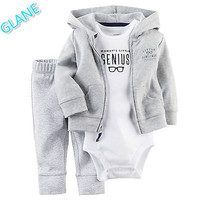 2016 Latest Casual Newborn 6 9 12 18 Months Cardigan Pants Set Baby Boy Clothes Outfit