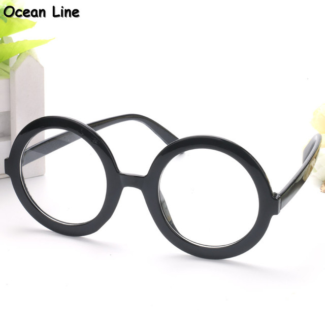 Vintage Round Harry Potter Frame Costume Party Glasses Clear Lens Fancy Dress Tropical Birthday Gift Party Decoration