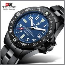 ساعات رجالي ماركة TEVISE ميكانيكية فاخرة ساعة أوتوماتيكية مضيئة ساعة للرجال ساعة يد للأعمال مقاومة للماء