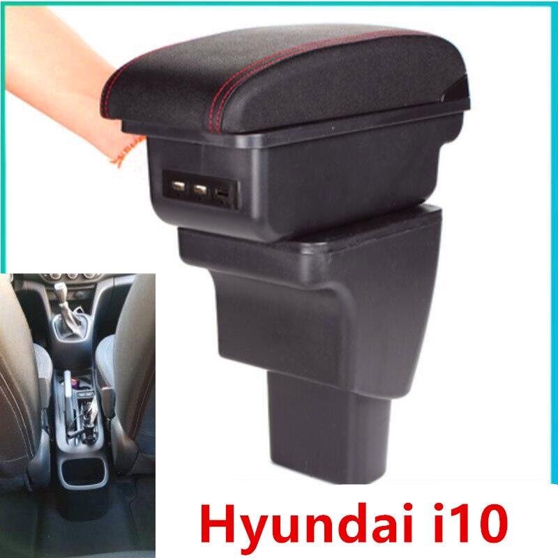 Para Hyundai i10 caixa Armazenar conteúdo caixa apoio de braço central de armazenamento interior decoração do carro-styling acessórios peças