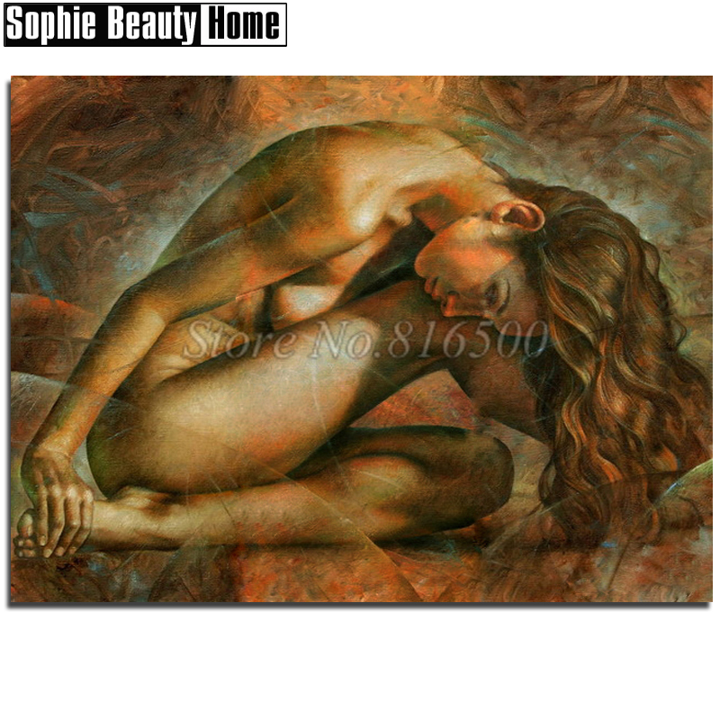 Needlework Diy 5D Diamond Painting Sexy Naked Beauty Full Diamond Mosaic Pattern Diamond Embroidery Rhinestone Home Decor 18C030