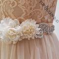 TOPQUEEN женщин S251 Красивые Цветы Свадьба вечернее платье створки Пояса Свадебные невесты Пояса Пояса для партии