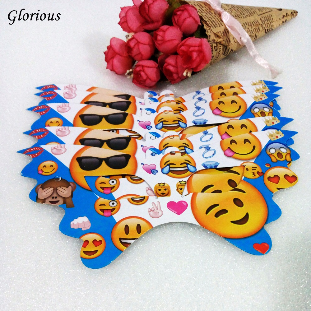 6pcs/bag QQ Expression Cartoon Theme Face Mask For Time Adornment Birthday Party Supplies Party Decoration Kids Favor Set