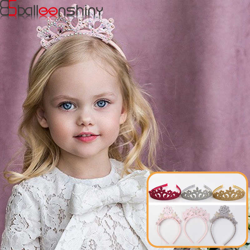BalleenShiny Cute Newborn Baby Girls Crown Hairband Infant Toddler Princesses Headband Kids Headwear Accessories Bandeau