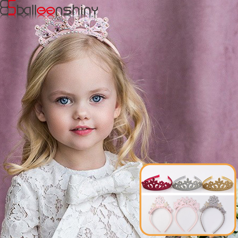 BalleenShiny Cute Newborn Baby Girls Crown Hairband Infant Toddler Princesses Headband Kids Headwear Accessories Bandeau