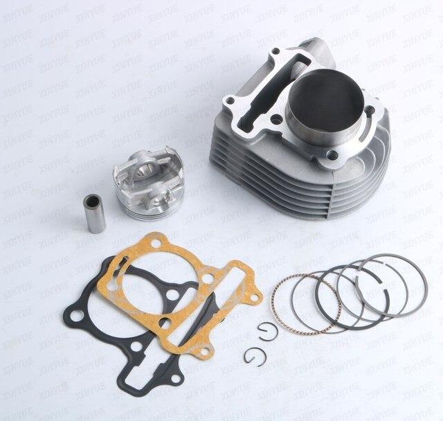 58.5 мм GY6 152QMI 157QMJ 125 150 155cc GP110 4 клапана/4 В клапан большого диаметра Цилиндра Комплект