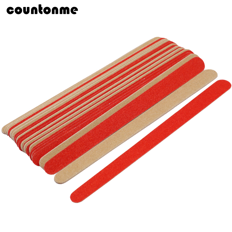 20PCS Wooden Nail File Buffers Slim Grit Sandpaper Artificial Nail Tips Tools Disposable Cuticle Remover Callus Double Side File