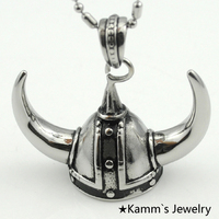Unicorn Viking Anchor Men Amulet Casting Silver Stainless Steel Pendant Necklace Punk Jewelry Bandeja 2014 Free