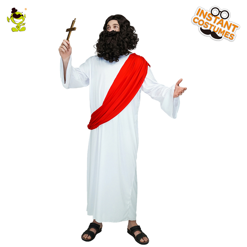 Men's Jesus Costume  Role Play Carnival Party Red Sash For Party Cosplay Religious Costume Role Play Jesus Costumes