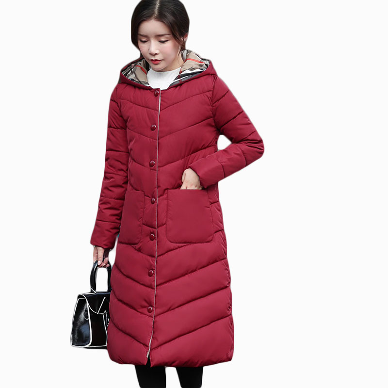2018 NEW HOT WOMEN WINTER CLOTHES JACKER MID-LENGTH HOODED THICK WARM FEMALE PARKAS COTT ...