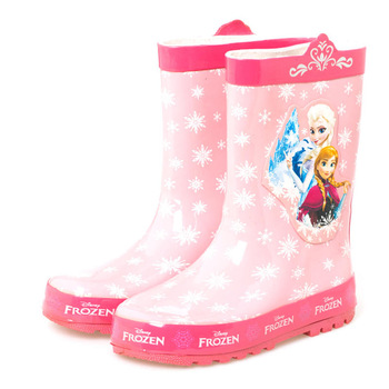 2019 New Disney Frozen Annie Girls Rain boots Cute Pink Elsa Snow Princess Water shoes Student Rain boots Rubber size 23-36