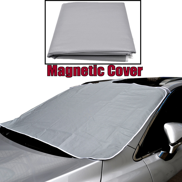 1537b7b8 Winter Magnetic Half Size Car Cover Windshield PEVA Car Windscreen Cover  Front Window Shade Shield Snow Ice Frost Protector Mat