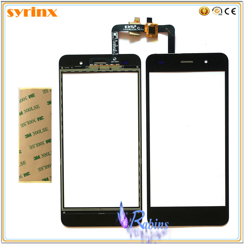 SYRINX Mobile Phone 5.0 <font><b>inch</b></font> Touch Screen Digitizer For Fly Cirrus <font><b>13</b></font> FS518 <font><b>Touchscreen</b></font> Touch Panel Glass Sensor + tape image