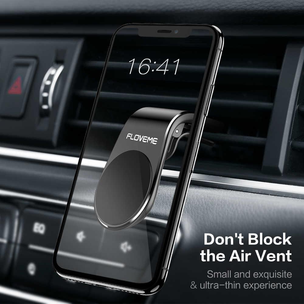 FLOVEME מגנטי מכונית טלפון בעל עבור iPhone 11X8 7 L צורת לשקע אוויר Vent הר Stand מגנט נייד בעל טלפון במכונית