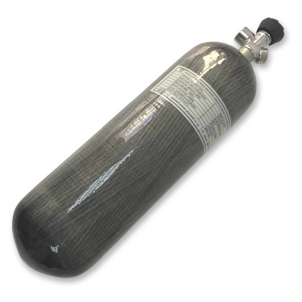 AC16831 6.8L Air Tank Cylinder 4500psi Paintball Tank Carbon Pcp Breathing Apparatus Oxygen Cylinder Protection 2019 Acecare