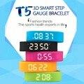 T5 Fitness Banda de Silicone Pulseira Inteligente Pulseira Pulseira Inteligente Pedômetro Acelerômetro 3D/Distância/Data & Hora/calorias