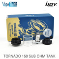 Original ijoy tornado tornado 150 sub ohm tanque 4.2 ml capacidade bobinas rebuildable atomizador com 0.3ohm & 0.25ohm & rta tornado 150