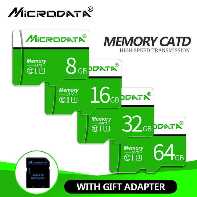 2019 nuevo Micro tarjeta SD 4 GB mini sd de 8 GB 16 GB 32 GB 64 GB 128 GB. tarjeta de memoria Clase 10 Flash tarjeta TF para teléfono celular/tableta/cámara